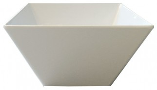Square White Salad Bowl - $5