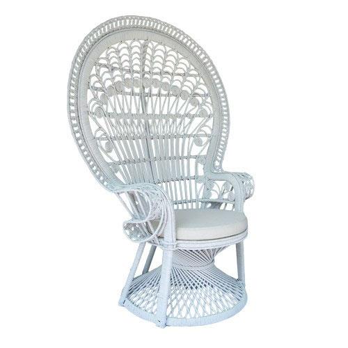 White Rattan Peacock Chair Alfie S Event Hire Sunshine Coast Chair