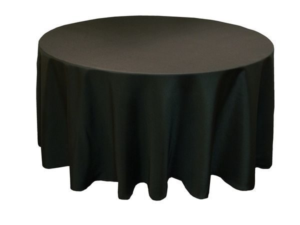 Black Round Table Cloth